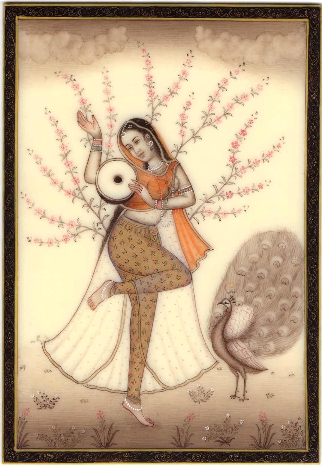 Ragini Ragamala Painting Indian Rajasthan Miniature Handmade Folk