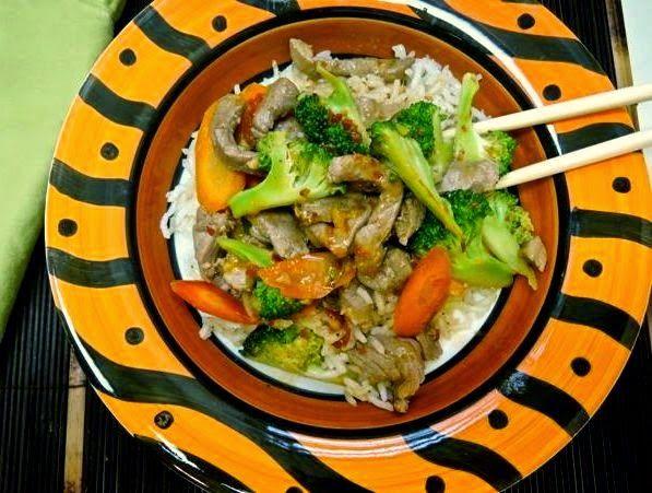 The Briny Lemon: Pork and Broccoli Stir-Fry with Peanut Sauce