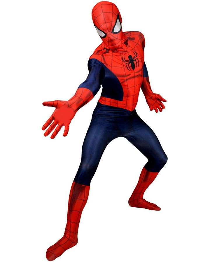 Spiderman Morphsuit Mens Costume - Visit to grab an amazing super hero shirt now on sale!