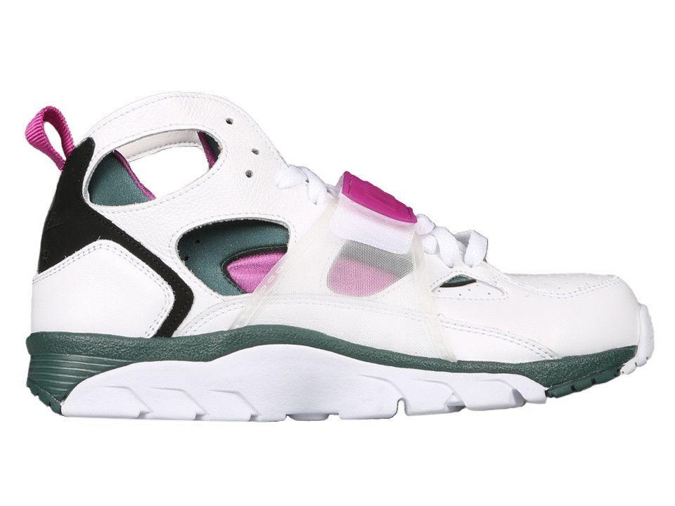 quality design cd671 97522 Nike Air Trainer Huarache PRM QS White Dark Emerald-Black-Medium Berry  647591-100