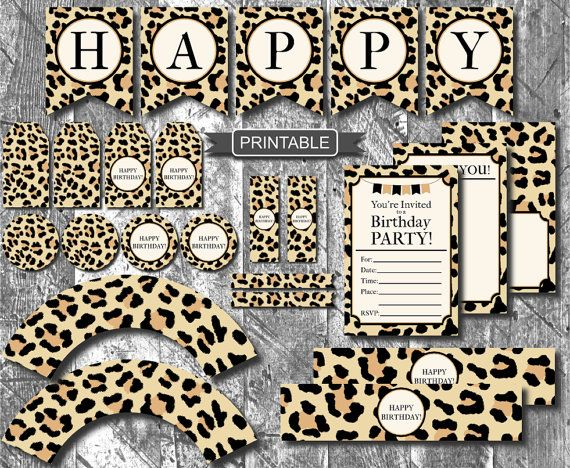 Diy Leopard Print Cheetah Print Birthday Party Decorations