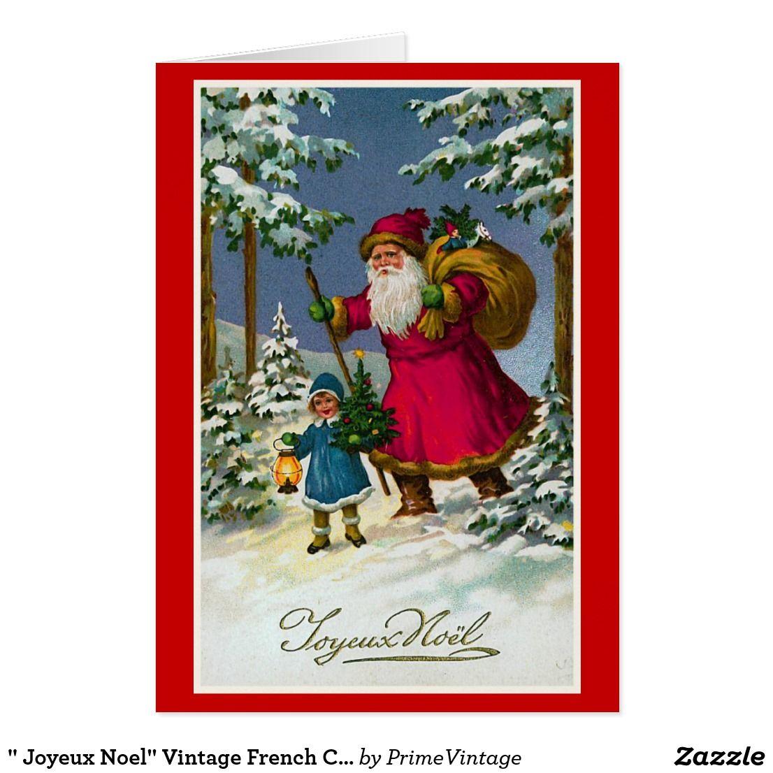 Joyeux noel vintage french christmas card joyeux noel vintage french christmas card m4hsunfo Images