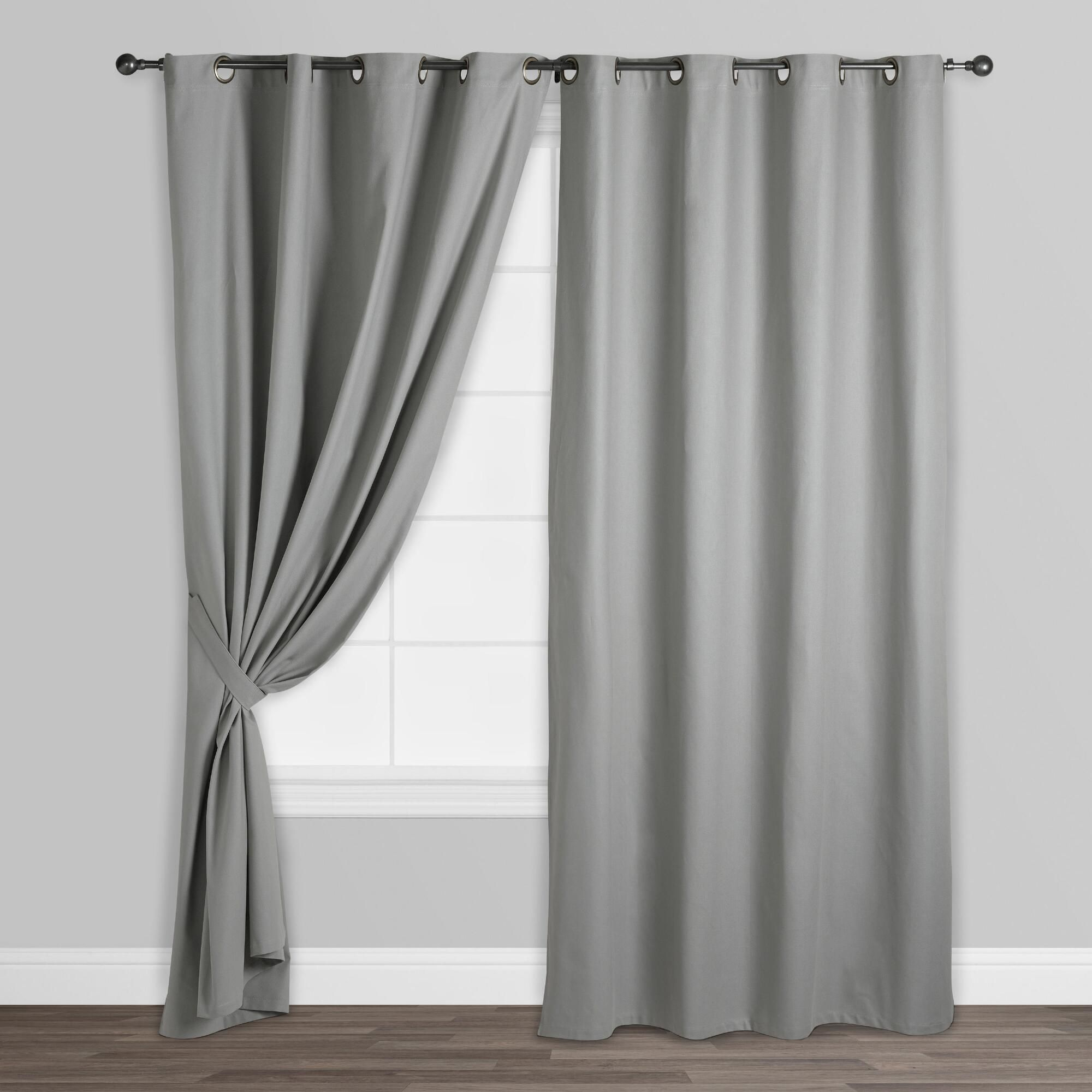 Our Slate Gray Parker Grommet Top Curtains Are Available In Three Lengths Suitable For A Wide Variety Of Window And Ceiling Heights With A Bronze Gromm Vorhange