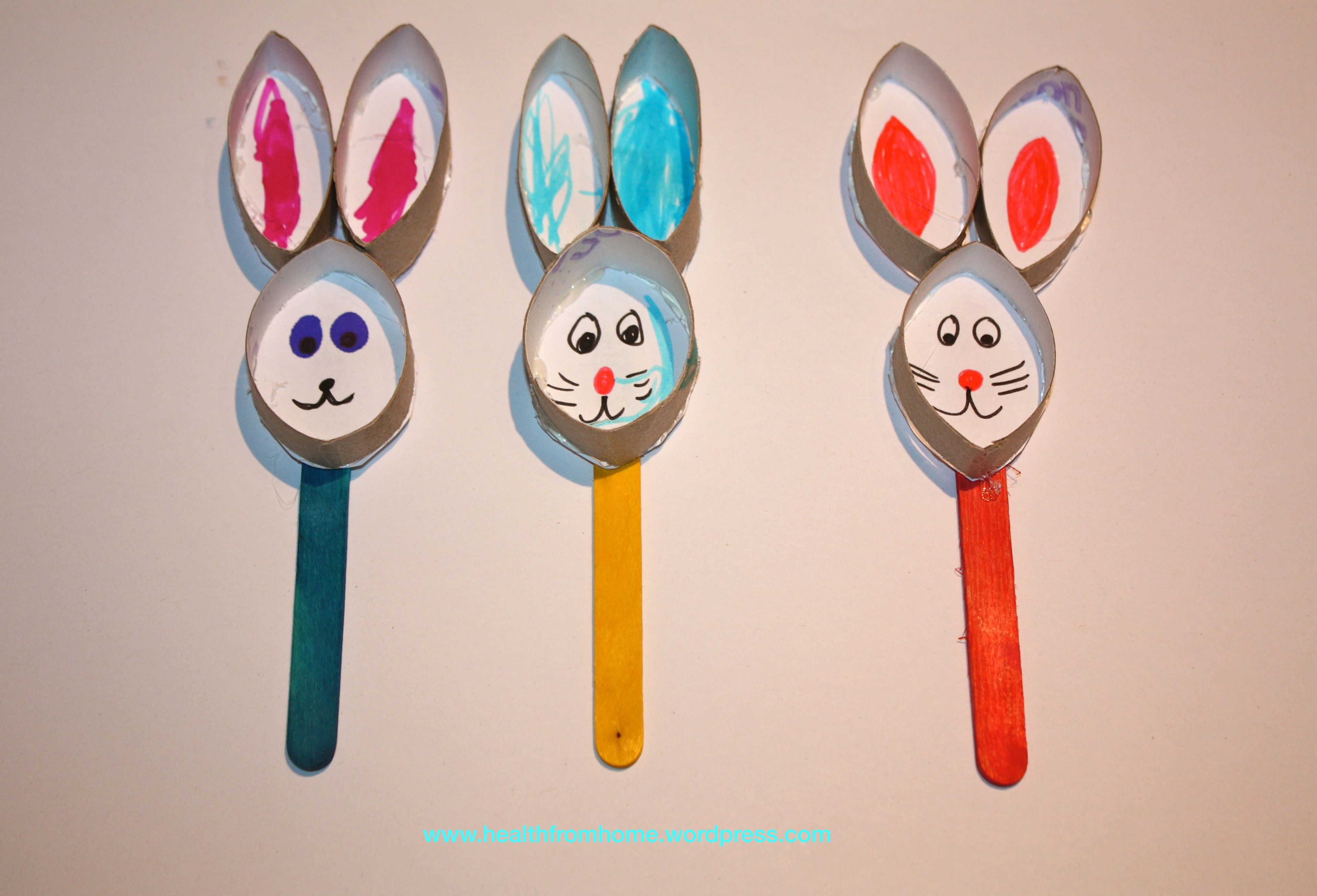 Easter Bunny Stick Puppets