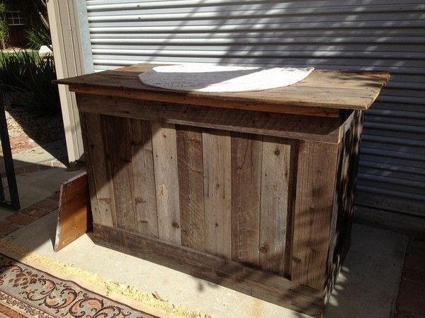 Wonderful Rustic Bar Top Ideas | Rustic Bar Made From Reclaimed Wood | Marketplace |  100 Layer