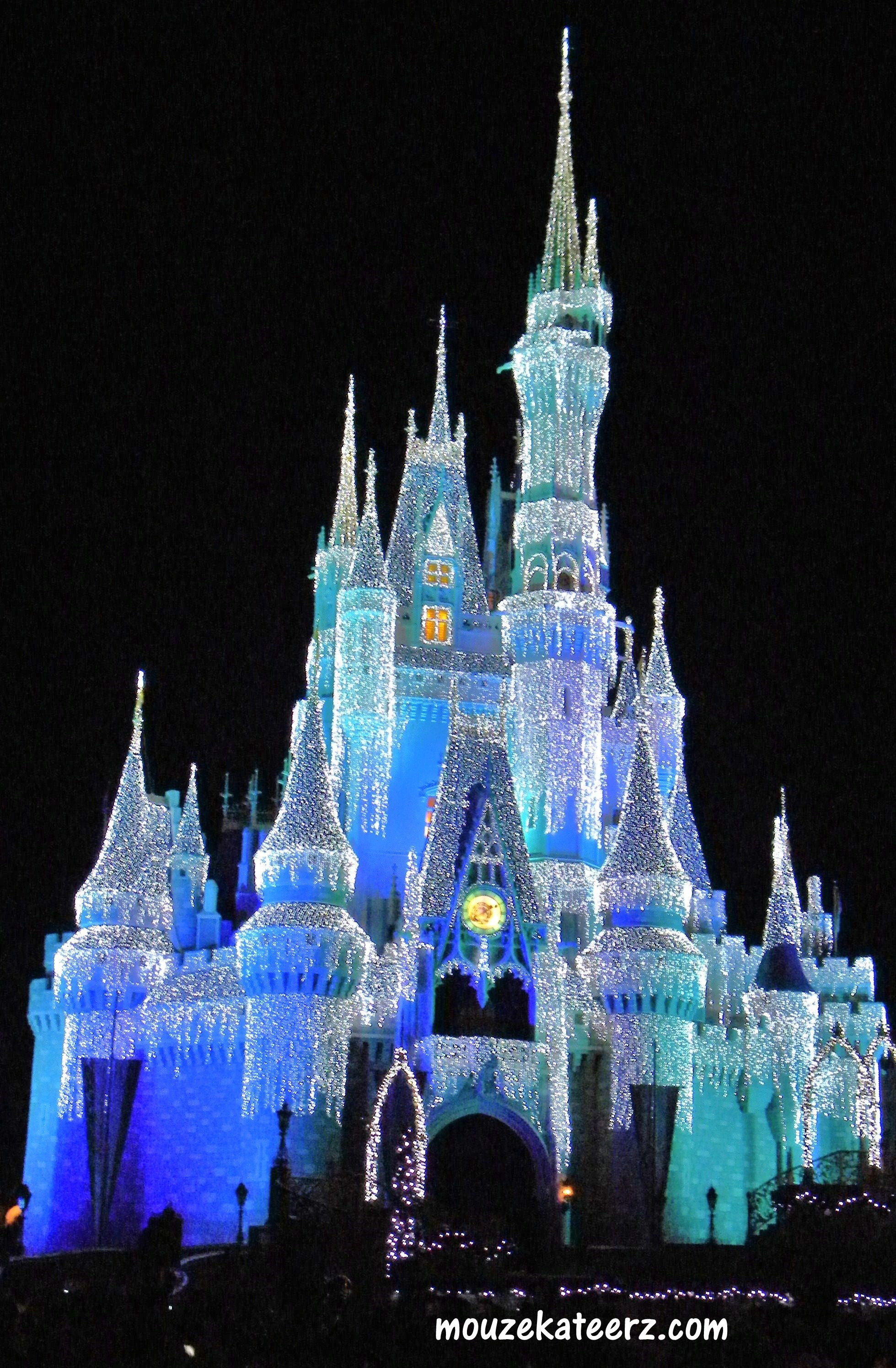 Castle Dreamlights, Disney castle Christmas, Castle Dreamlights ...