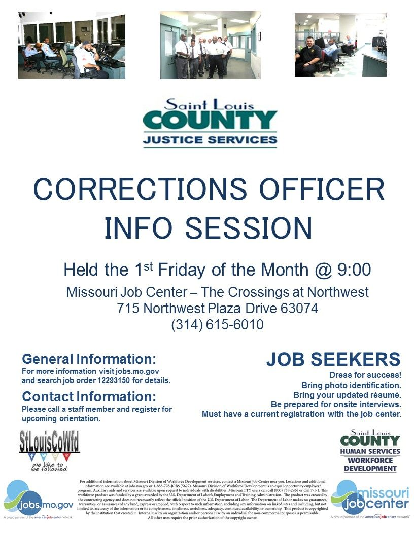 Corrections Officers Info Session  Info Sessions  Orientations
