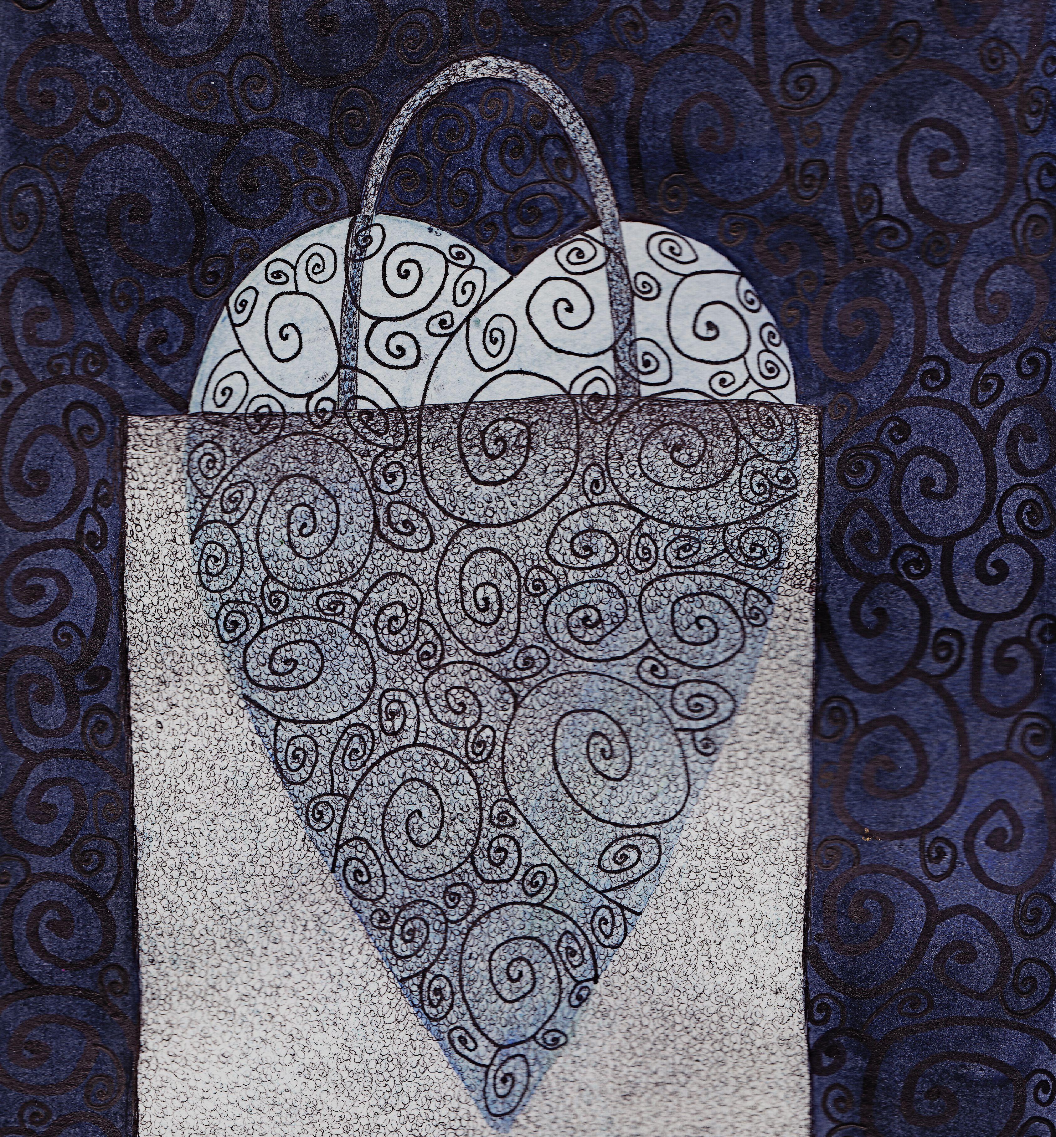 heart in bag