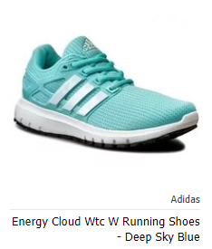 Adidas Energy Cloud Wtc W Running Shoes Deep Sky Blue Running Shoes Adidas Sneakers