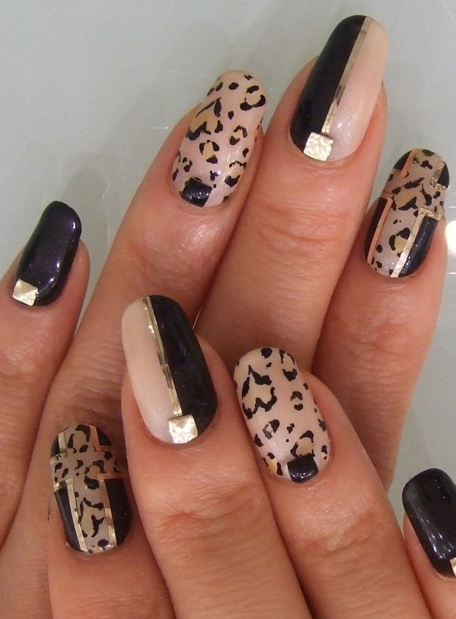 leopard print nail designs | ... -forward-animal-print-nail - Leopard Print Nail Designs -forward-animal-print-nail-art-idea