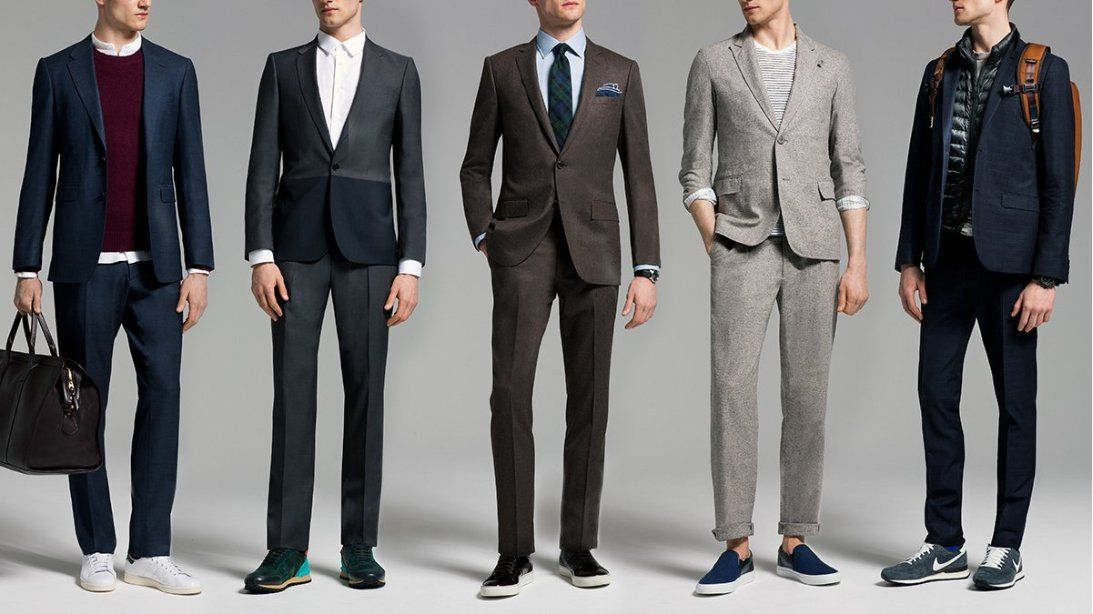 Here\u0027s how to look sharp wearing a suit with sneakers
