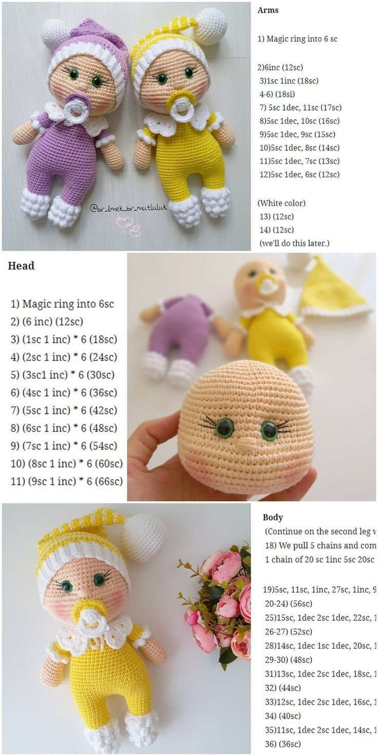 Amigurumi Hair – Photo Tutorial ❥ 4U hilariafina www.pinterest ... | 1472x736
