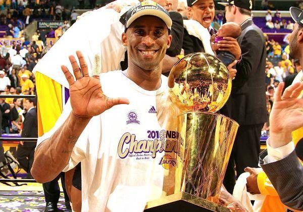 LA Lakers   Kobe Bryant Celebrates 5th
