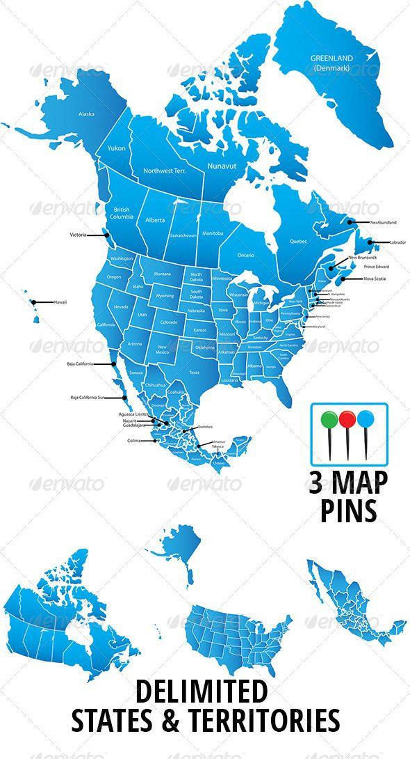 Pin by Shawna Dzanbazoff on Photoshop | Map vector, Map, America
