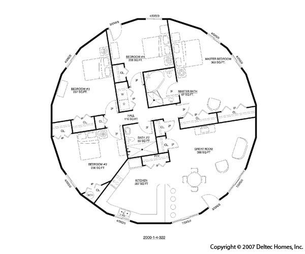 Dome Home floorplan... incase I ever get to live in a