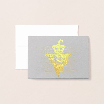 Halloween Trick or Treat Scarecrow | Blank Card