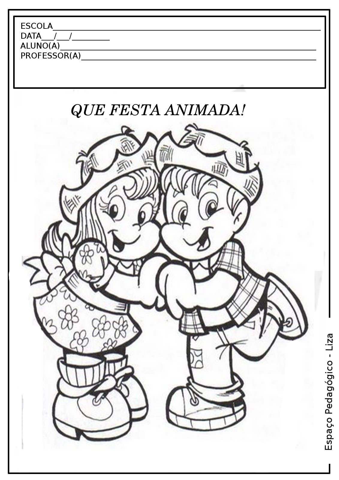 Festa Junina Atividade Colorir Pintar Imprimir 2 Jpg 1131 1600
