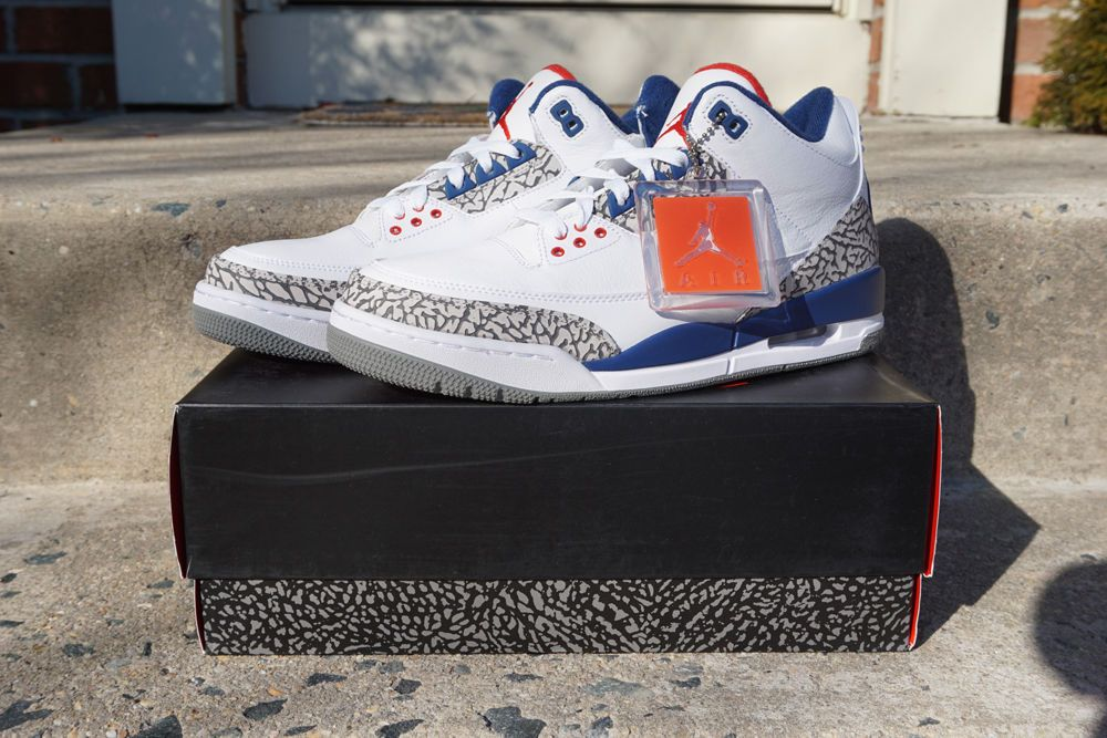 the latest 40d5c 0ce68 Nike Air Jordan Retro OG 3 True Blue 854262-106 White Fire Red New Size 9.5   Nike  AthleticSneakers