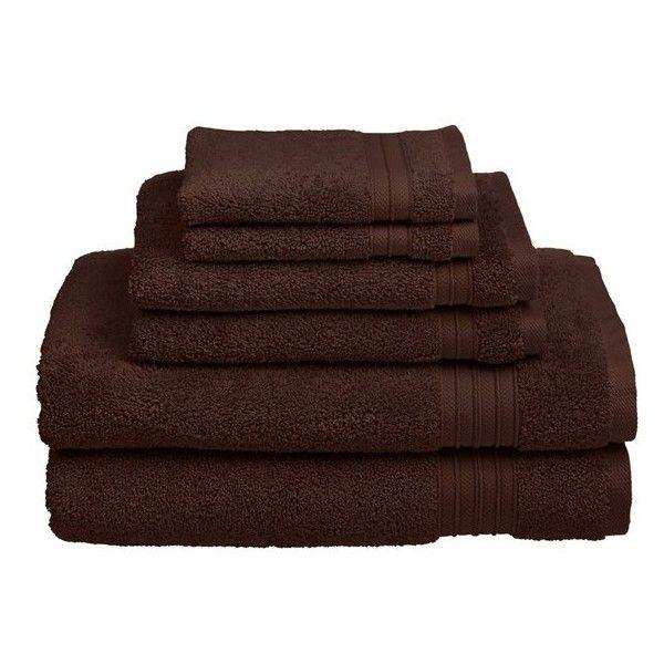 Welspun USA 'HygroSoft' Towels ($48) ❤ liked on Polyvore featuring home, bed & bath, bath, bath towels, java and plush bath towels