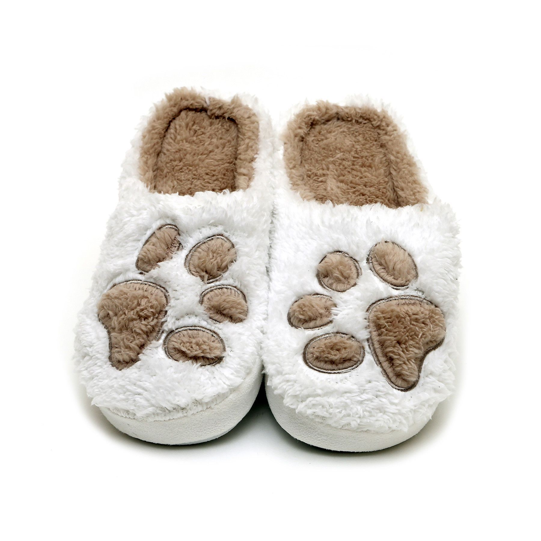Paw Print Slippers - I Sleep with Dogs