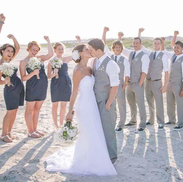 Linen Suit Beach Wedding