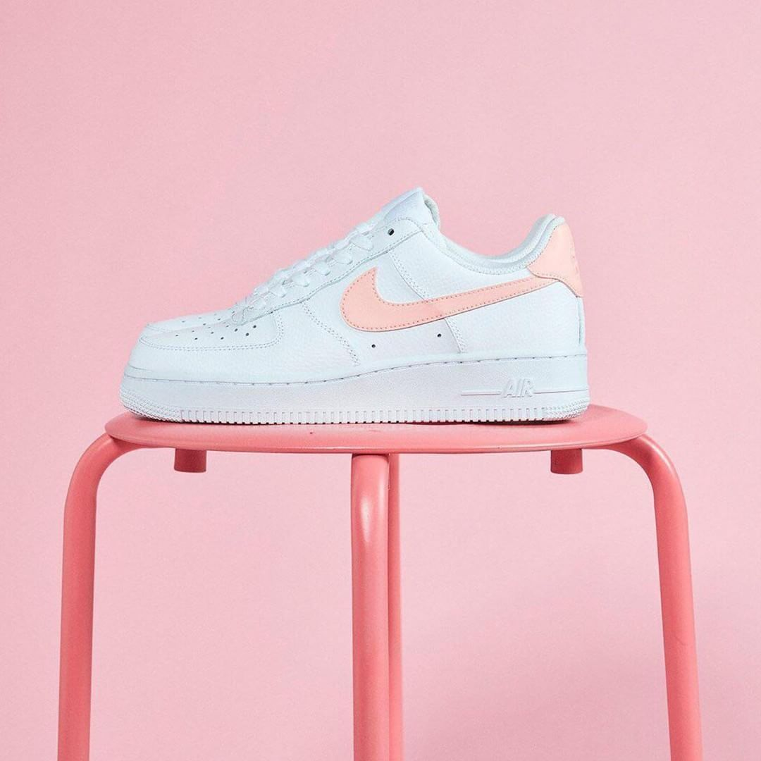 outlet store ab632 55141 Women s Nike Air Force 1  07 Patent White Oracle Pink AH0287 102 Girls  Casual Shoes   Nike Air Force One Sneakers in 2019   Nike air, Nike air  force ones, ...