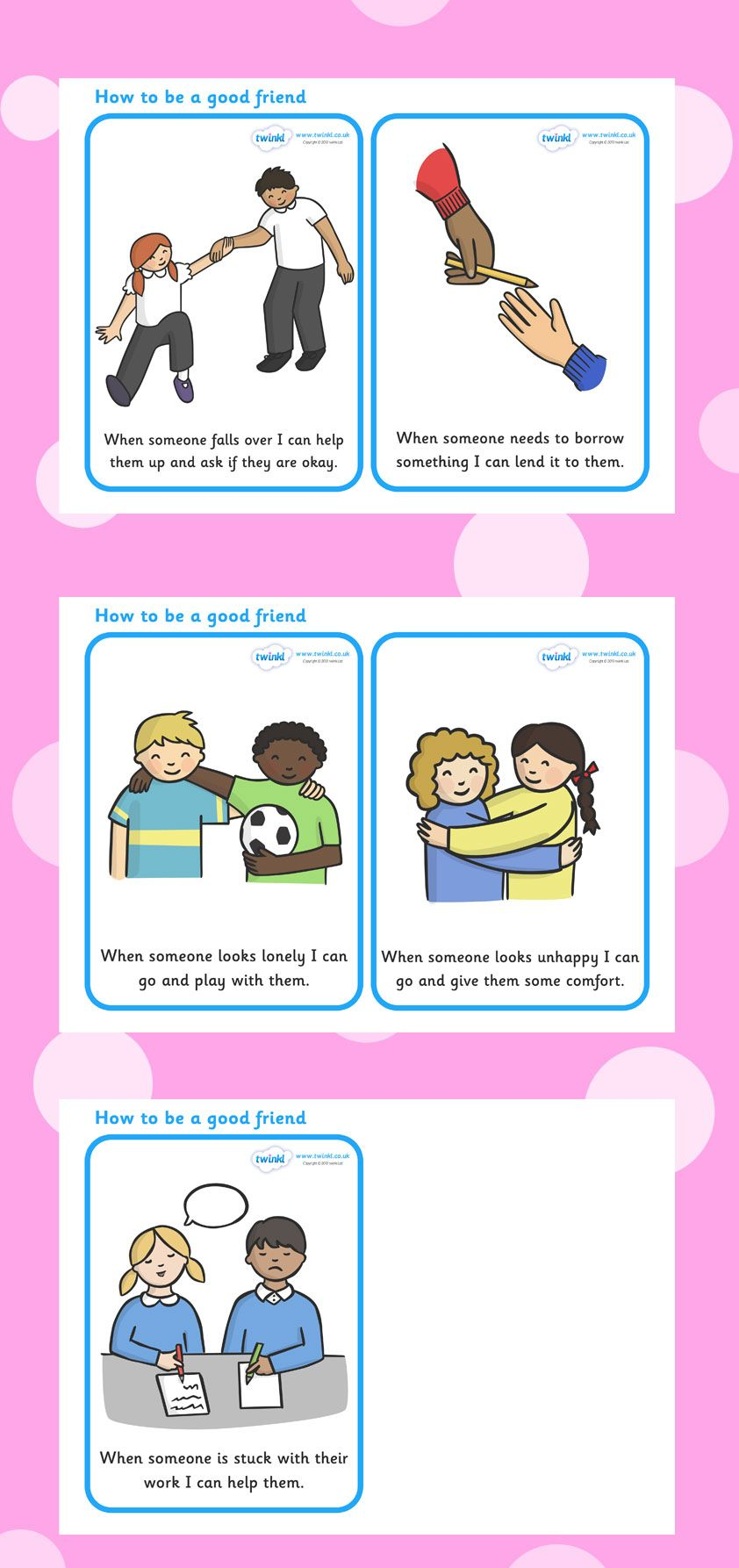how to teach children about being a friend
