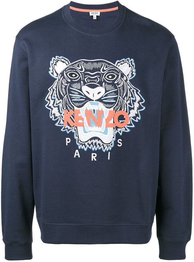 5ab621f9 Kenzo Tiger sweatshirt | Products in 2019 | Kenzo, Embroidered ...