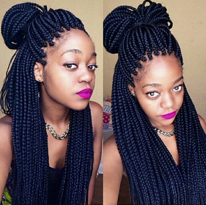 Box Braids Style Loveit With Images Box Braids Styling