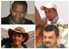 LIBRES ! Thierry Dol, Marc Feret et Pierre Legrand, nos collègues de Sogea-Satom, ainsi que Daniel Larribe, salarié d'Areva, enlevés par AQMI au Niger dans la nuit du 15 au 16 septembre 2010, ont été libérés le 29 octobre 2013. L'ensemble des collaborateurs du groupe VINCI s'associe à la joie et au soulagement de leurs proches.
