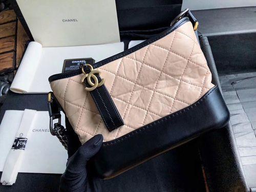 6d1dfeb336f7 Chanel's Gabrielle Small Hobo Bag Beige/Black #FW2018 #onlineshopping  #discountbag #designerbag