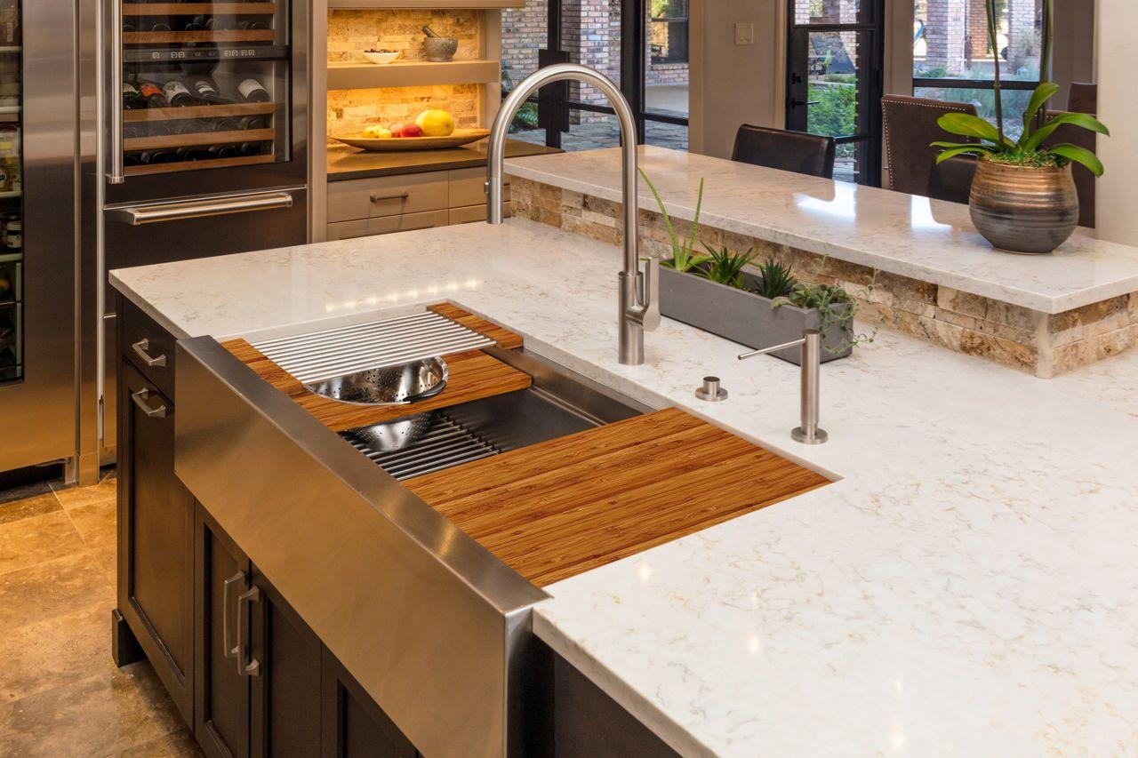 Ideal Workstation 4 Apron Front With Matte Taps Kitchen Design
