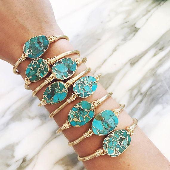 Handmade vintage fine natural ruby turquoise gem stone german silver bracelet Antique one of a kind gem stone light bracelet gift for her