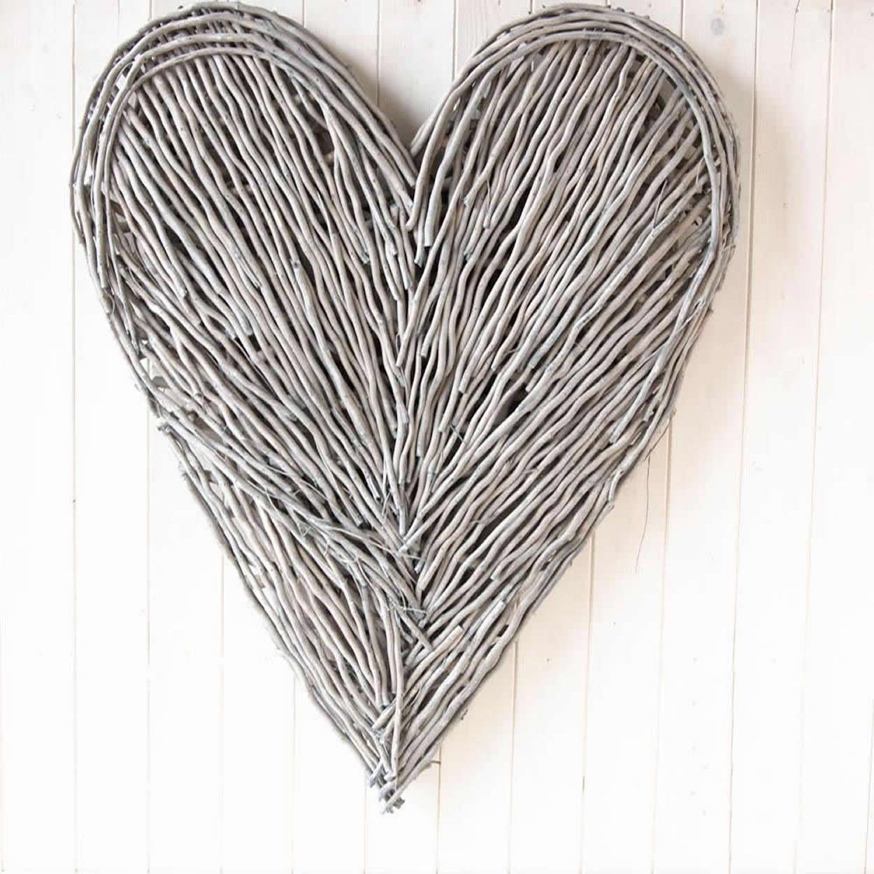 Extra Large Wicker Wall Heart Natural Heart Wall Wicker Hearts Wicker