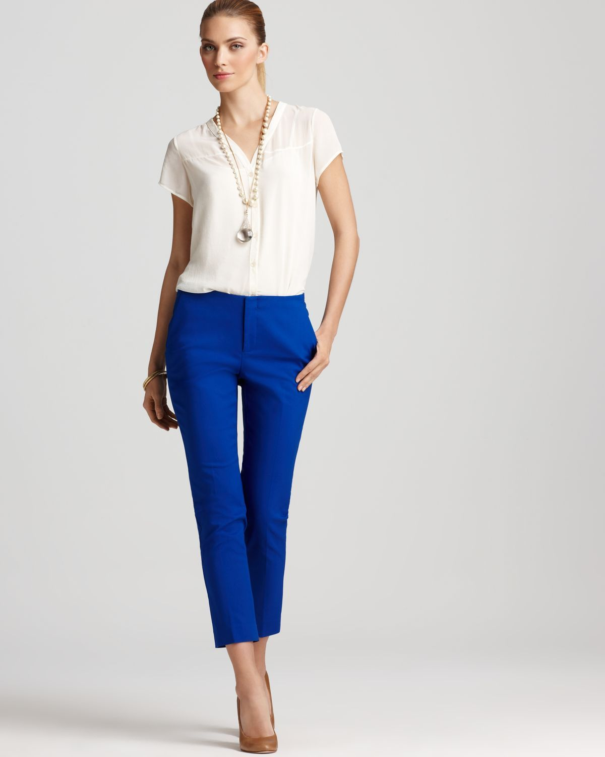 Royal blue pants. trying to find what to wear on the top. | Closet | Pinterest | Royal blue ...