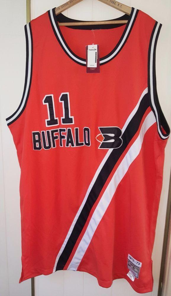 264bf5e9988c 1972-73 Mitchell   Ness Buffalo Braves Bob McAdoo Retro Jersey Sz 56 58  Orange in Sports Mem