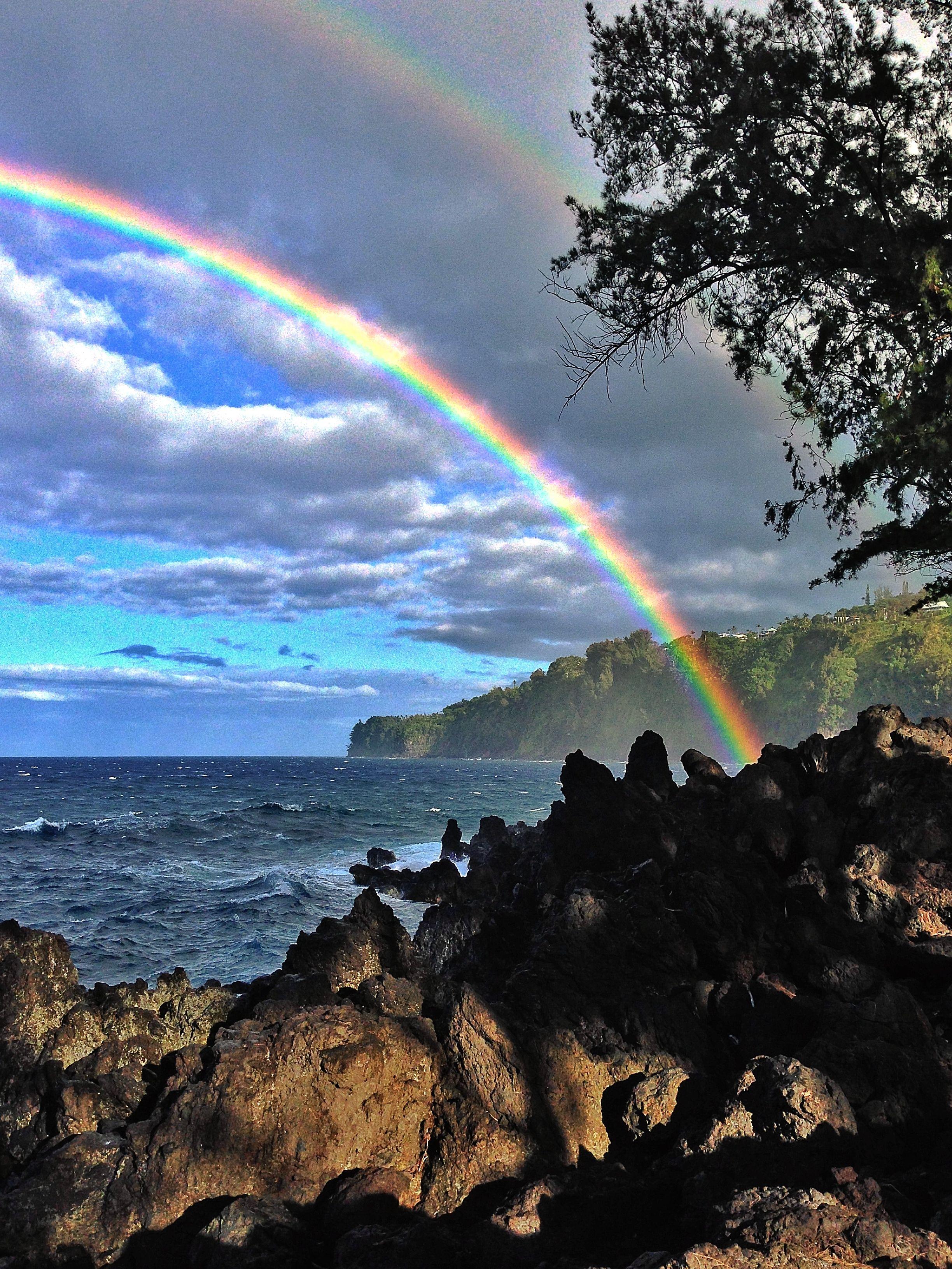 down at laupahoehoe point on big island hawaii the rainbows were so rh pinterest com