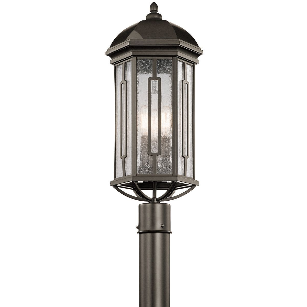 Galemore outdoor 3 light 23 post lantern set church outdoor shop kichler lighting galemore 3 light outdoor post mount at lowes canada find our selection of post mount lights at the lowest price guaranteed with aloadofball Choice Image