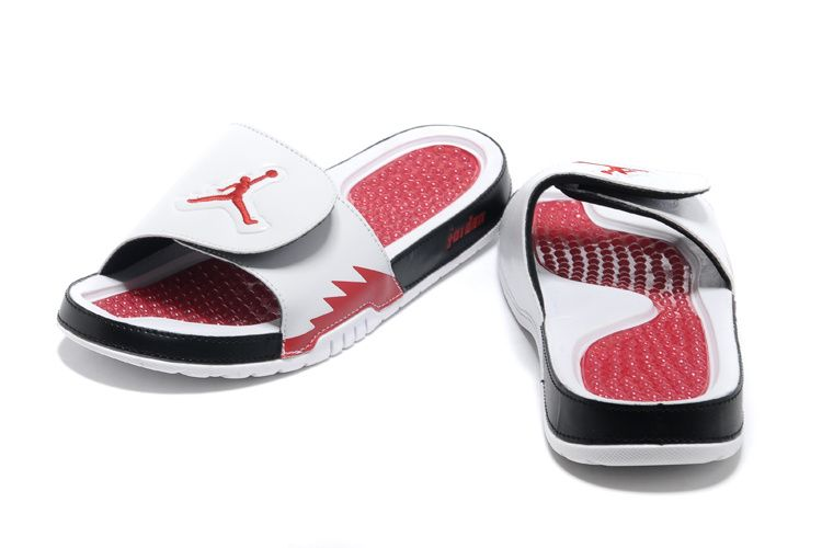 44bae4382 Jordan Hydro 5 Mens White Sport Red Red Jordan Sandals  Mens