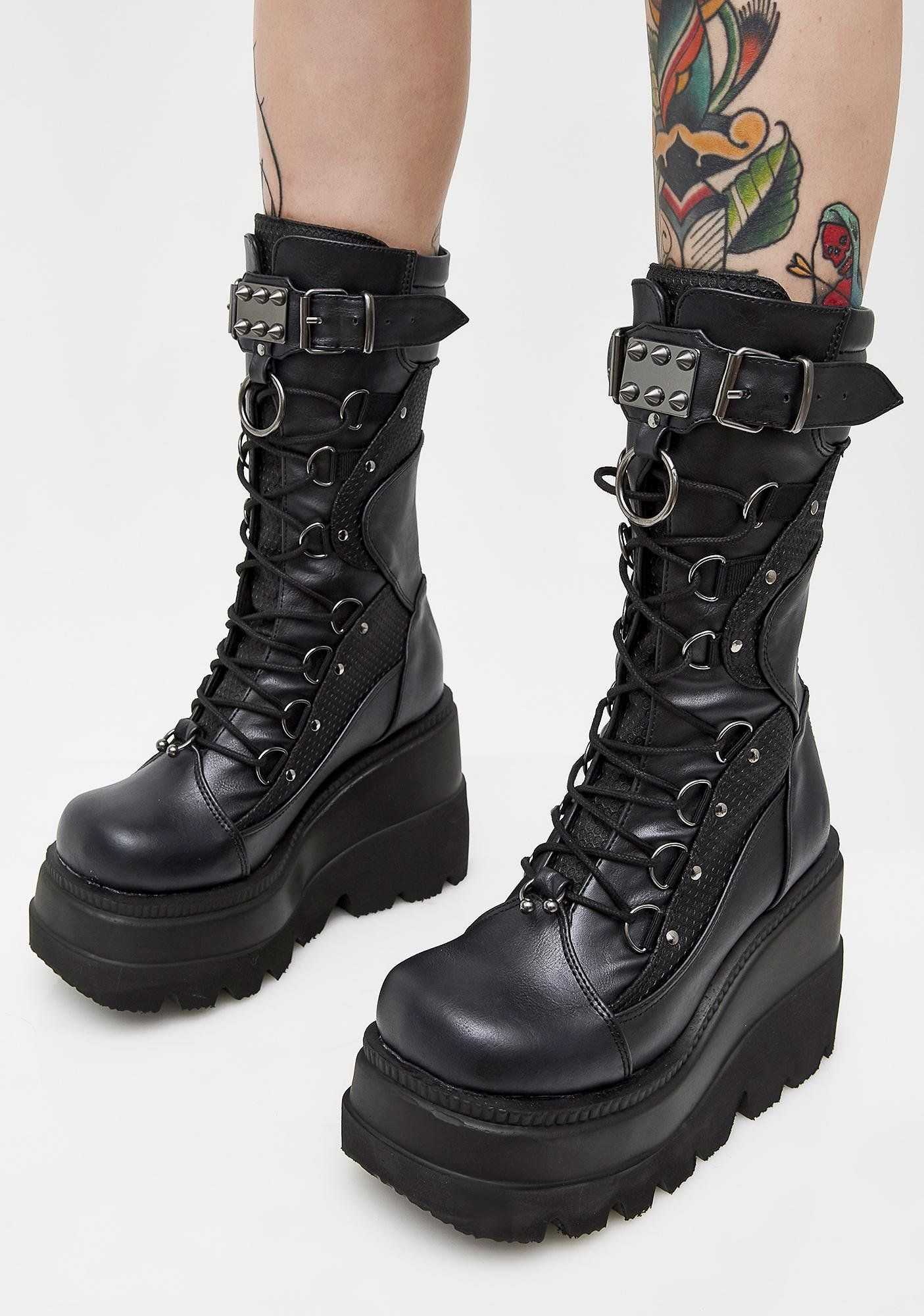 High Rise Shaker Boots in 2020 | Grunge