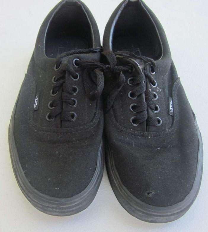 b2ec24da46 Buy this one and save a lot!1 Used Pair of Black Van Shoes in Men 8.5 M  Women 10 M need sewing repair  VANS  Vans