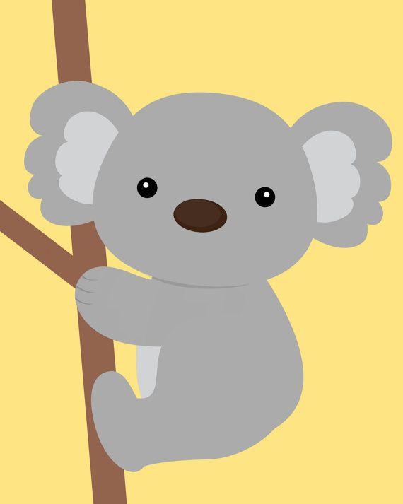 20 Off Now Yellow And Gray Nursery Nursery Koala By Chicwallart