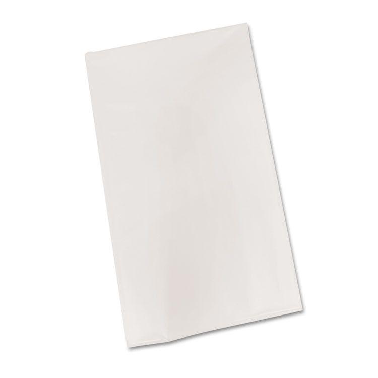 "Bio-Degradable Plastic Table Cover, 54"" X 108"", White, 6/pack"