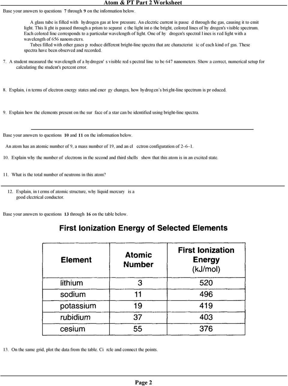 Atomic Structure Review Worksheet Regents Review Atom Pt Part 2 Worksheet Mr Beauchamp In 2020 Atomic Structure Evaluating Algebraic Expressions Atom