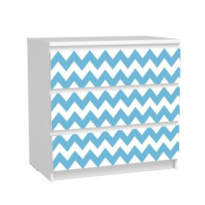 Stickers commode malm 3 tiroirs DIY hack Stickers pour meuble