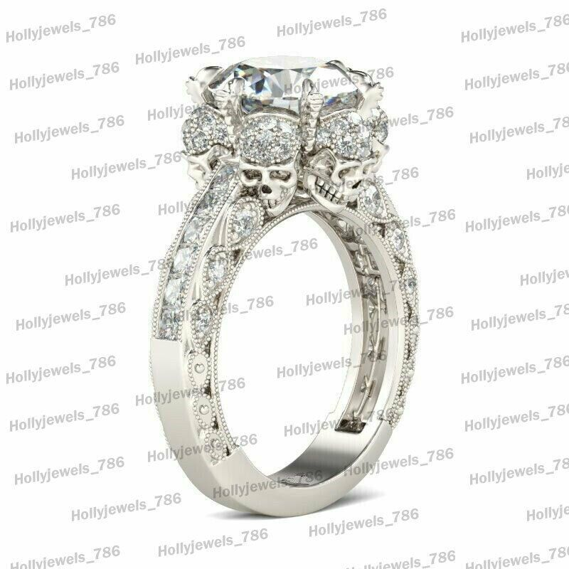 Details about  /2.00 Ct Round Cut Diamond Men/'s Engagement Ring 14K White Gold Finish 925 Silver