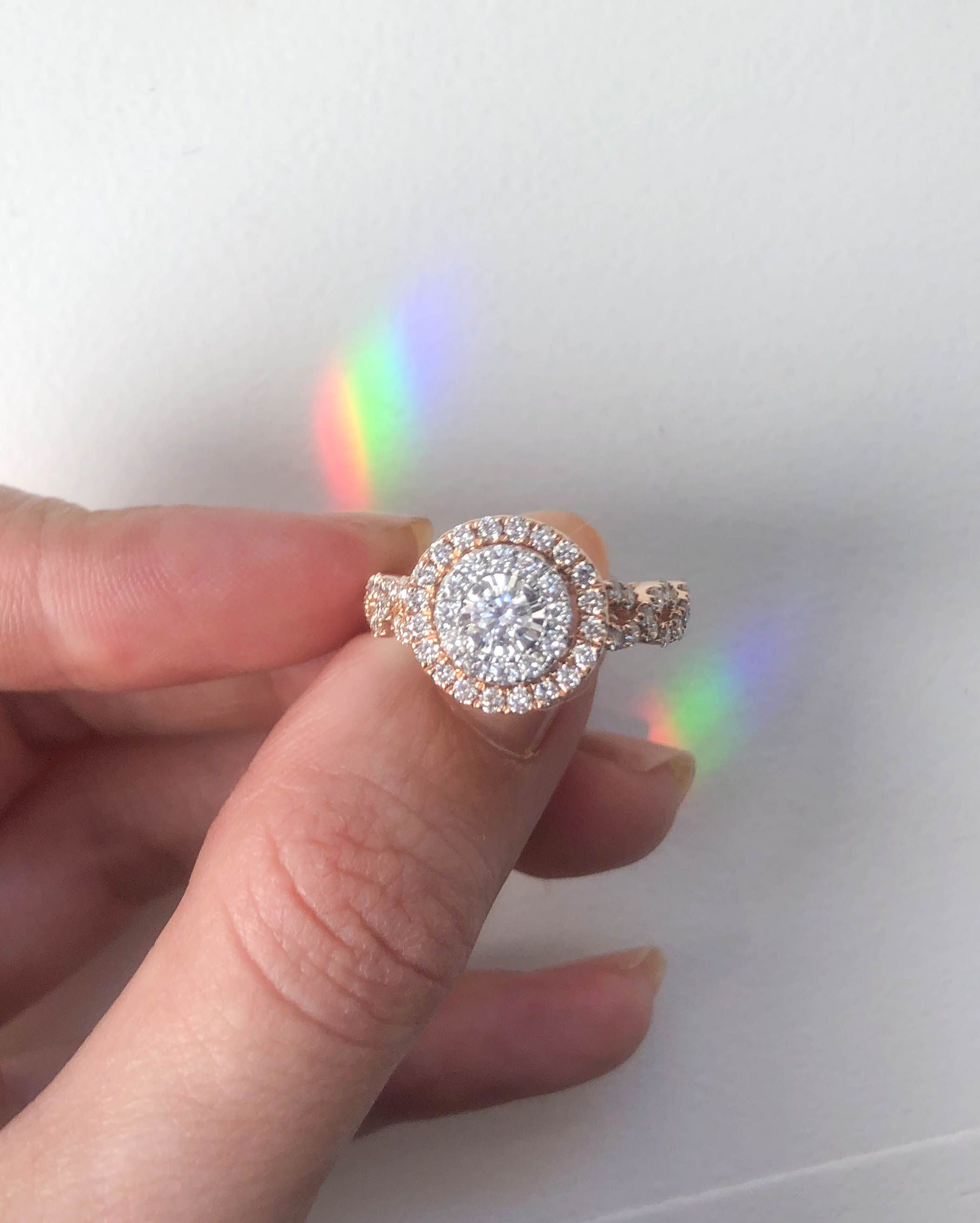 There Is No Better Way To Say I Love You Than With This Romantic Diamond Engagement Ring From The Engagement Rings Twisted Engagement Rings One Carat Diamond