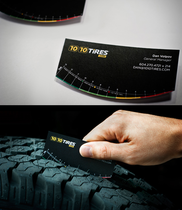 10 10 tires business card by spring advertising 27 unconventional