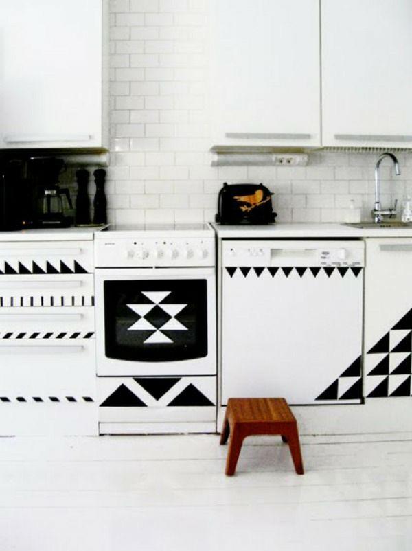 DIY wohnideen küchenfronten erneuern klebefolie für möbel | kitchen ...