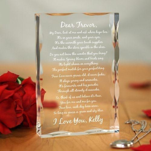 To My Love... Personalized Keepsake Block